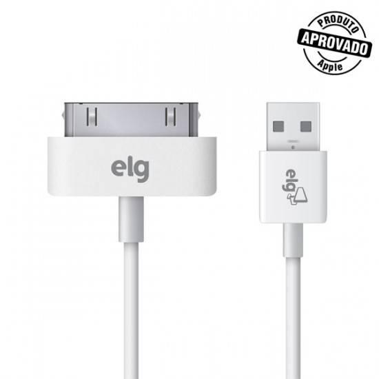 Cabo USB 2.0 1 metro p/ IPHONE 4 / 4S C3010- ELG - Ilha Suportes