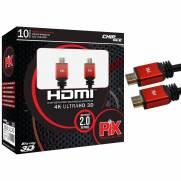 Cabo HDMI 10mt 2.0/3D/4K 19 pinos 18Gbit/s - PIX   Ilha Suportes