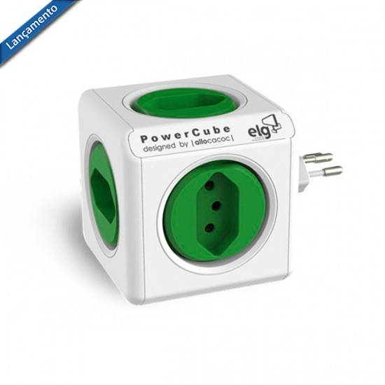 PowerCube Original PWC-R5 ELG Verde 5 Tomadas