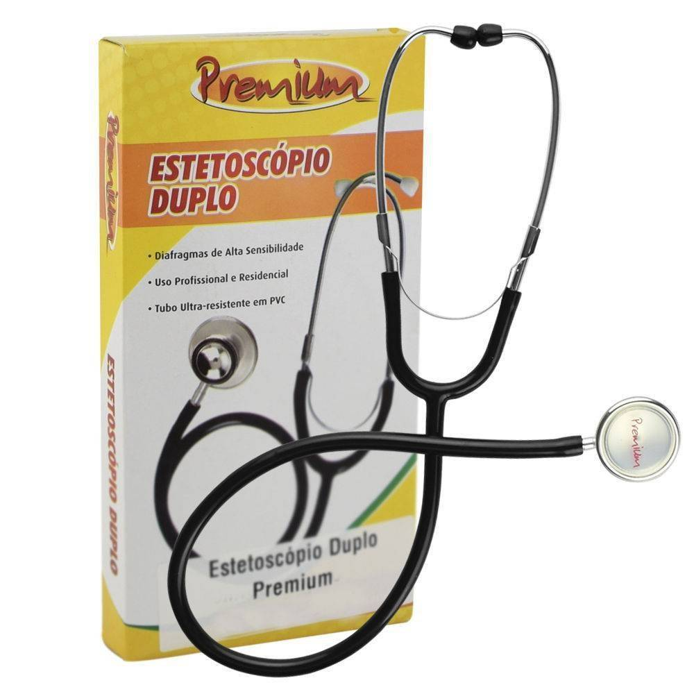 Estetoscópio Duplo Premium Preto - Orto Curitiba