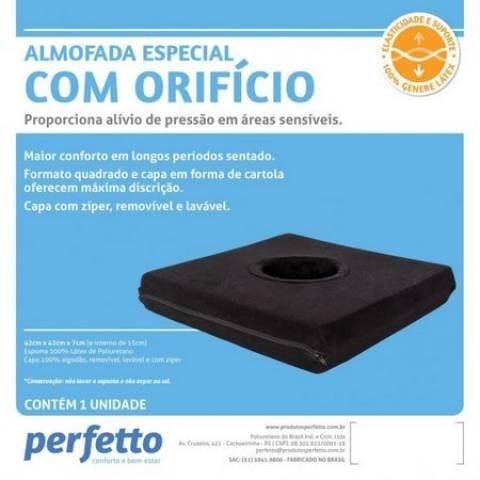 Almofada Especial Látex Quadrada com Orifício - Orto Curitiba