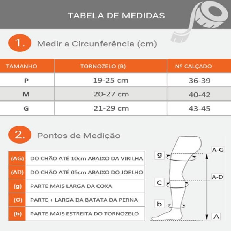 Meia De Compressão 3/4 Sigvaris Actitud Masculina 15-20mmHg - Orto Curitiba