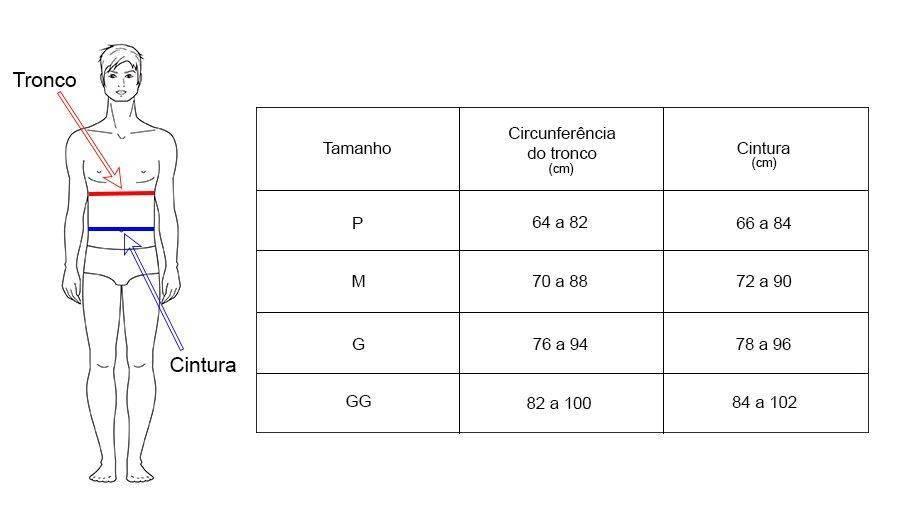 Espaldeira Bio Ativa Adulto Preta Com Infravermelho - Orto Curitiba