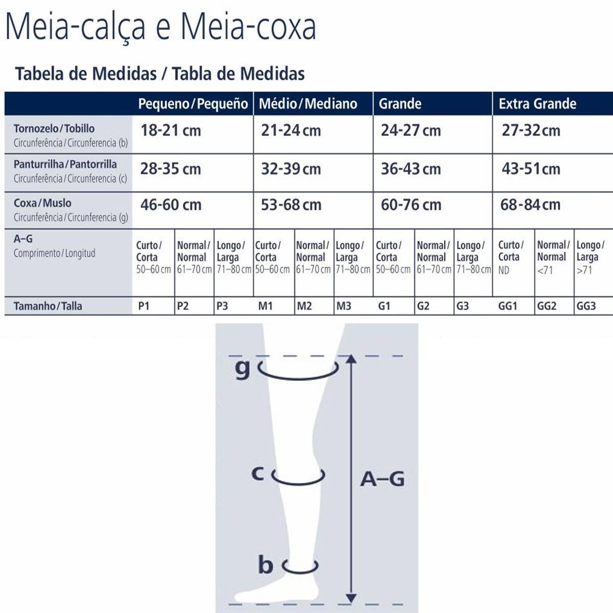 Meia de Compressão 7/8 Sigvaris Ever Sheer 20-30mmHg - Orto Curitiba