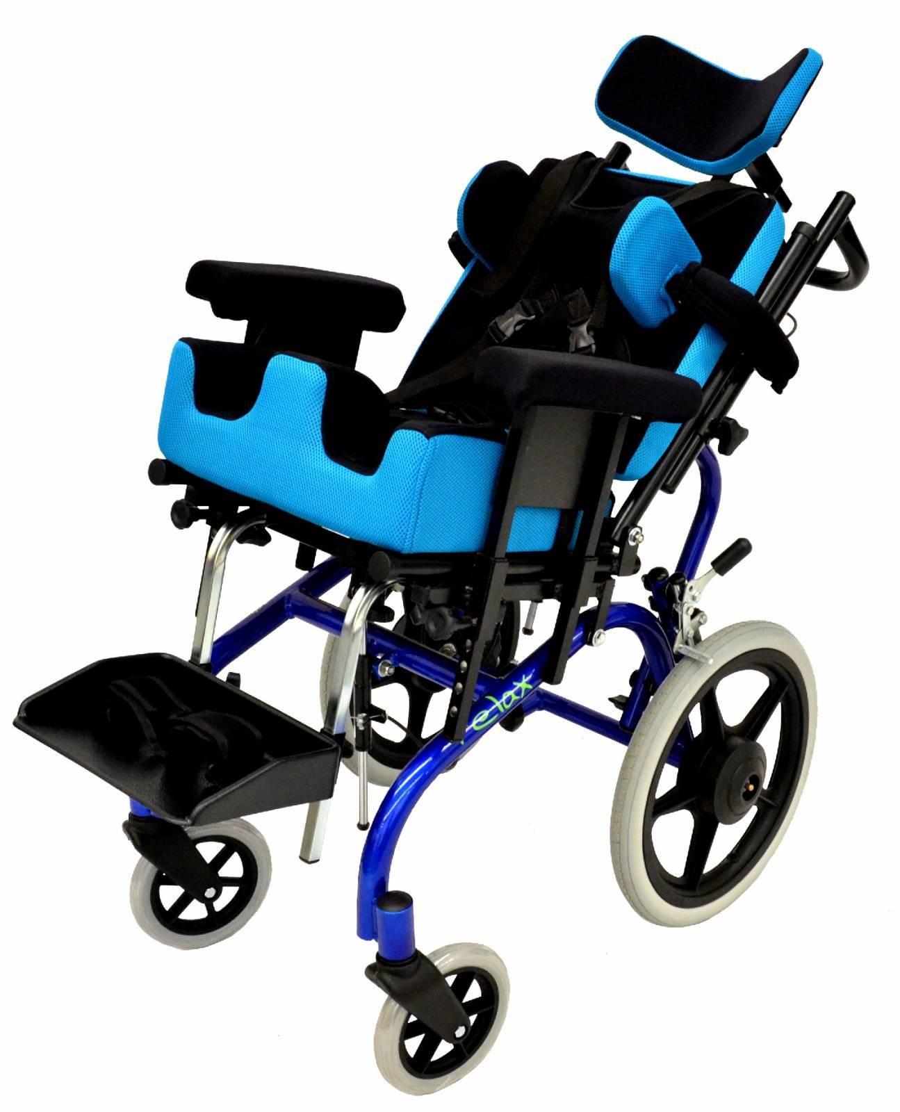 Cadeira De Rodas Relax Azul Com Preto - Orto Curitiba
