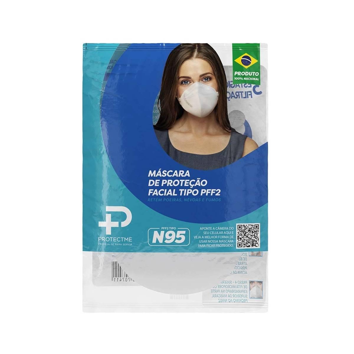 Máscara N95 Protectme Branca Pacote 24 Unidades - Orto Curitiba