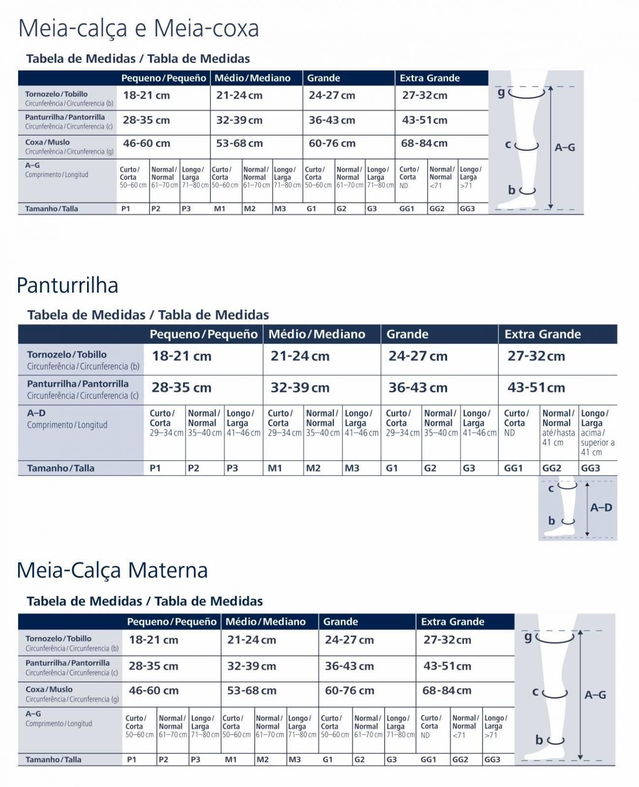 Meia De Compressão 3/4 Sigvaris Select Confort 20-30mmHg - Orto Curitiba