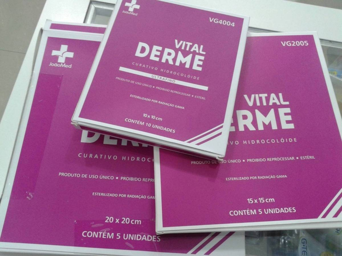 Curativo Hidrocoloide Vital Derme 20x20 - Orto Curitiba