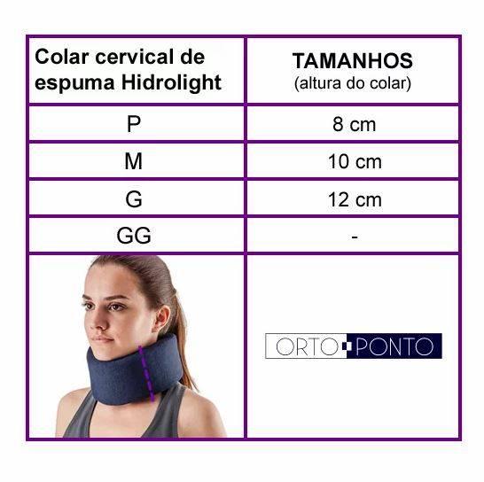 Colar Cervical De Espuma Azul Hidrolight - Orto Curitiba