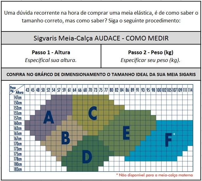 Meia Calça De Compressão Sigvaris Audace 15-20mmHg - Orto Curitiba