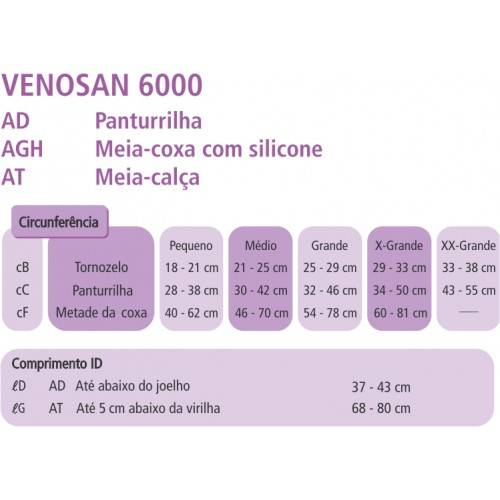 Meia De Compressão 7/8 Venosan 6000 20-30mmHg - Orto Curitiba