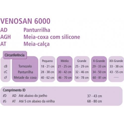 Meia De Compressão 7/8 Venosan 6000 30-40mmHg - Orto Curitiba