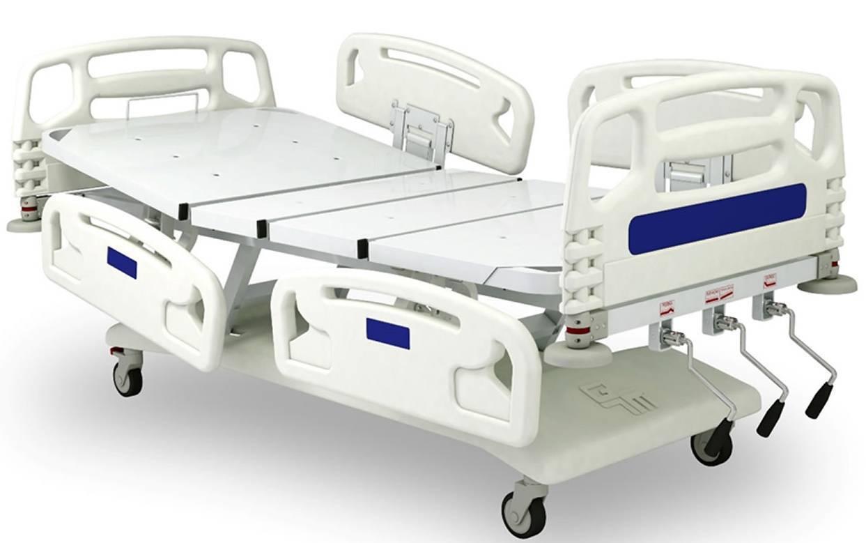 Cama Hospitalar Manual Sem Elevação GM-9305 - Orto Curitiba