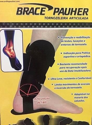 Tornozeleira Articulada Brace Pauher - Orto Curitiba