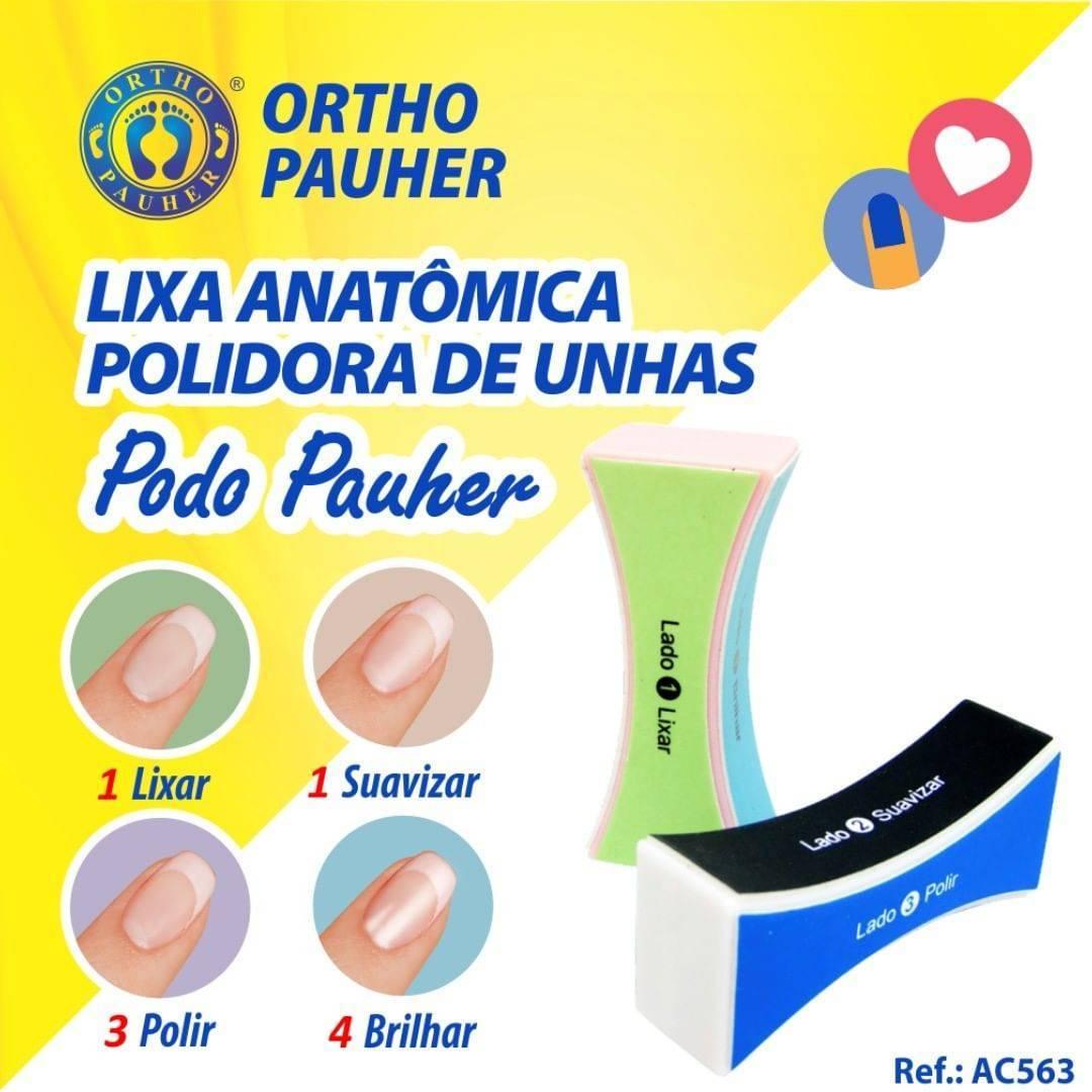 Lixa Anatômica Polidora De Unhas Podopauher Feminina - Orto Curitiba