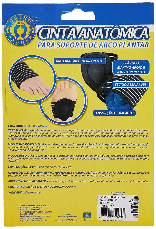 Cinta Anatômica Para Suporte Do Arco Plantar  - Orto Curitiba