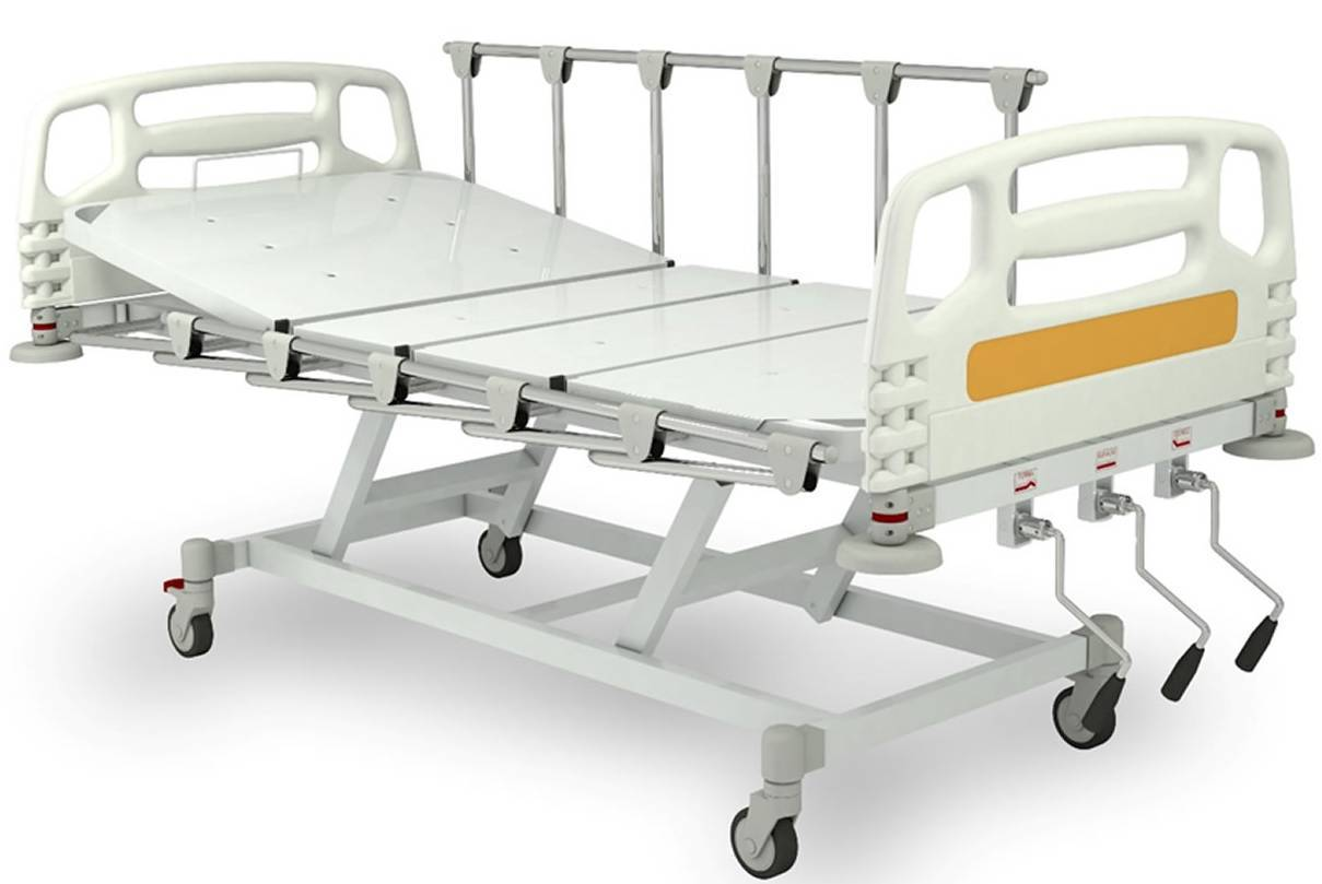 Cama Hospitalar Manual Com Elevação GM-9310 - Orto Curitiba
