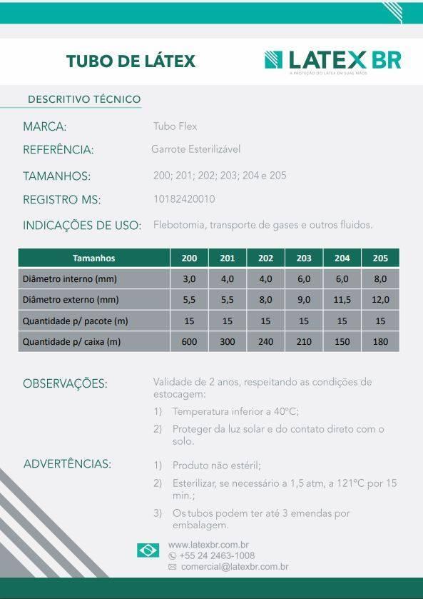 Tubo De Látex 201 Pacote 15 Metros - Orto Curitiba