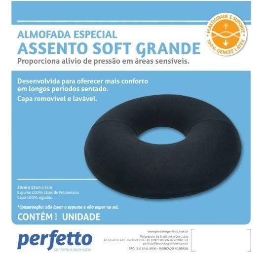 Almofada Soft Redonda Latex - Orto Curitiba