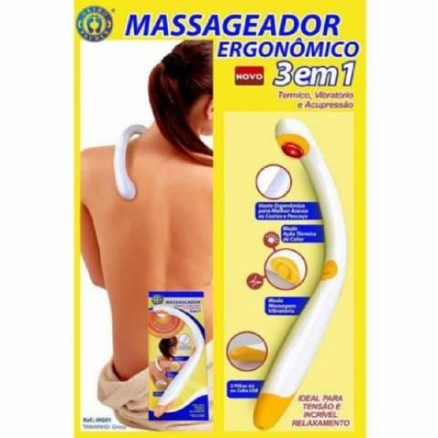Massageador Vibratório Ergonomico 3 em 1 - Orto Curitiba