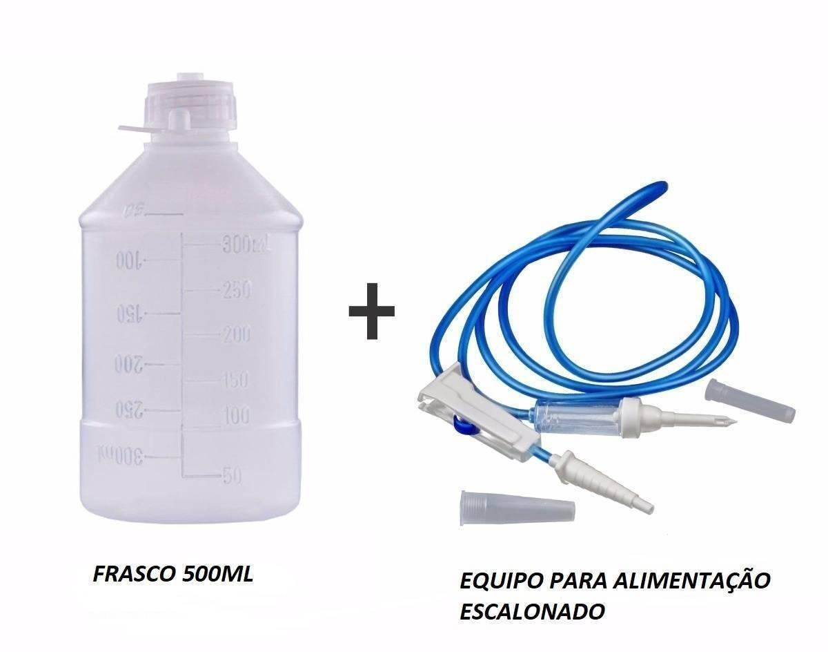 Kit Alimentação Enteral Frasco 500ml + Equipo - Orto Curitiba