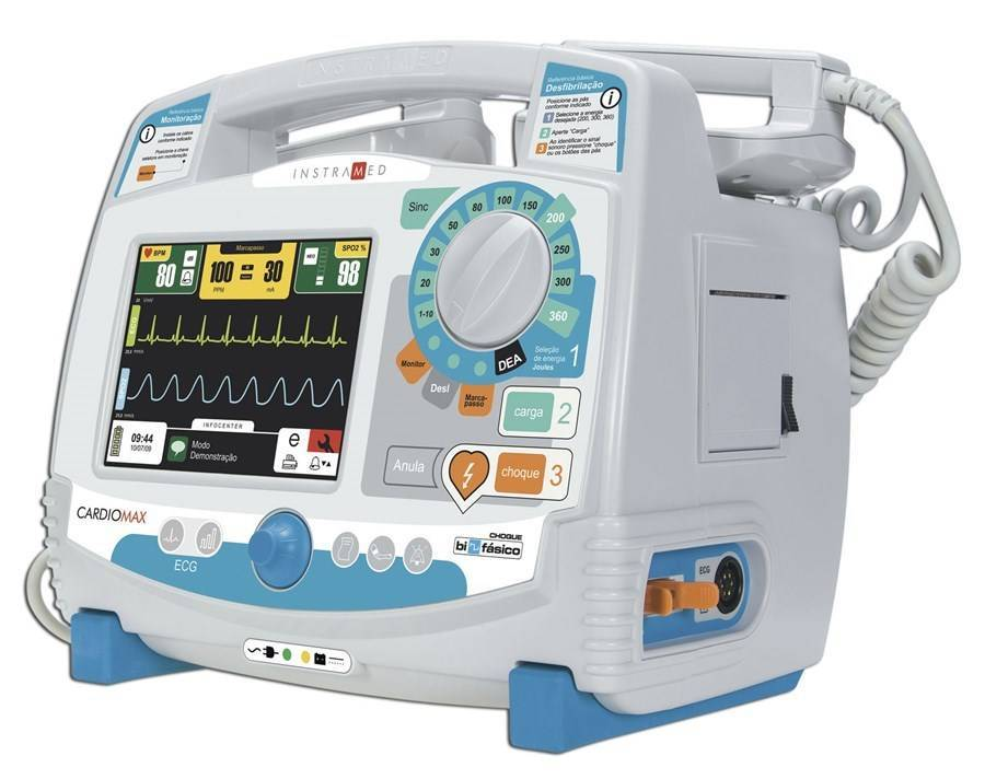 Cardioversor Bifásico Cardiomax Com Modo DEA - Orto Curitiba