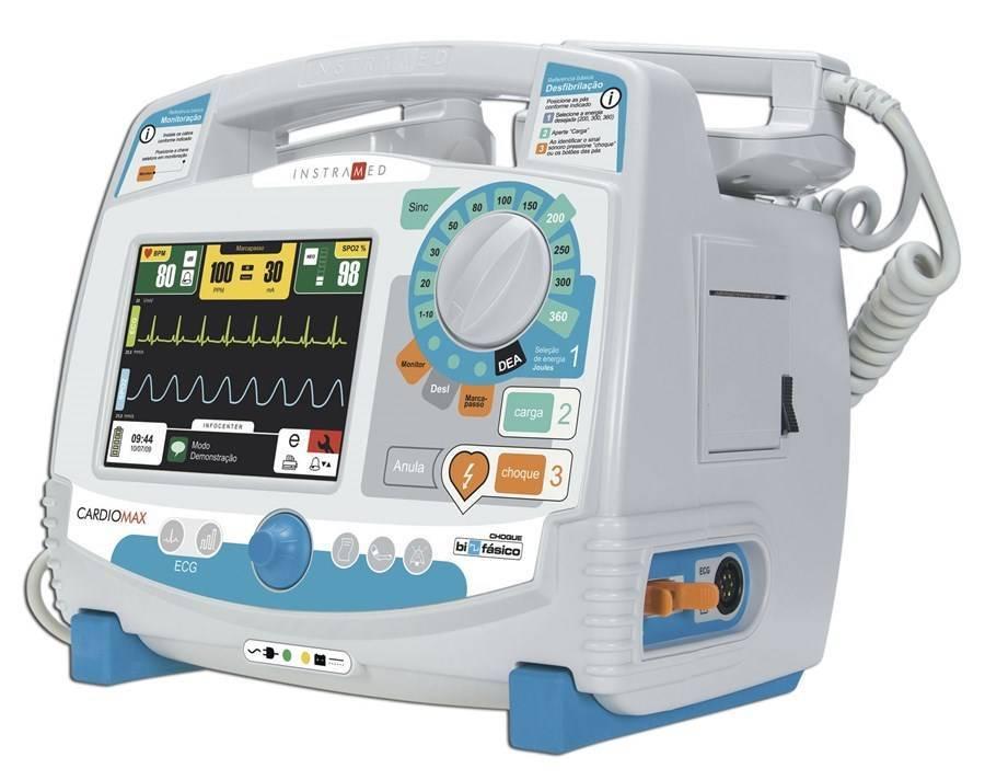 Cardioversor Bifásico Cardiomax Com Oximetria e Marcapasso C - Orto Curitiba
