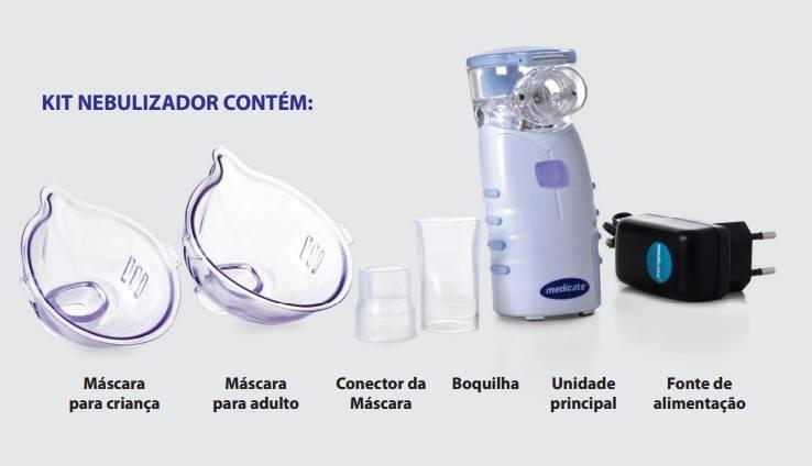 Inalador Portátil MD-4000 Mesh Medicate - Orto Curitiba