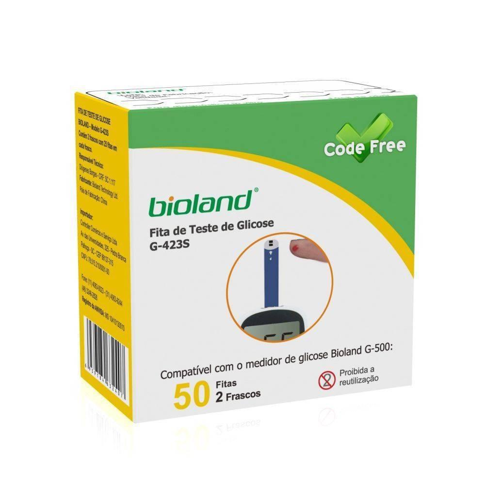 Tiras Para Glicosímetro G-500 Bioland  - Orto Curitiba