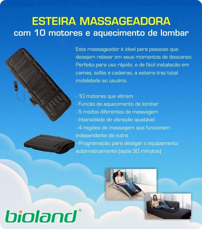 Esteira Massageadora 10 Motores Bioland - Orto Curitiba