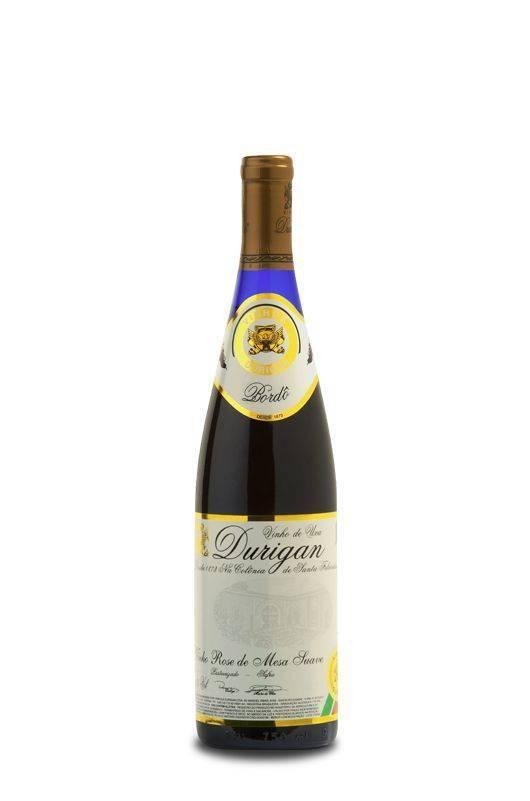 Vinho de Mesa Rosé Suave 700 ml - Vinhos Durigan