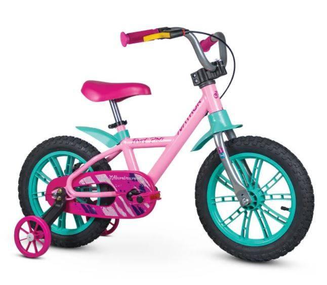 Bicicleta Nathor Femenina First pro Alumínio Aro 14 - Bike Portella