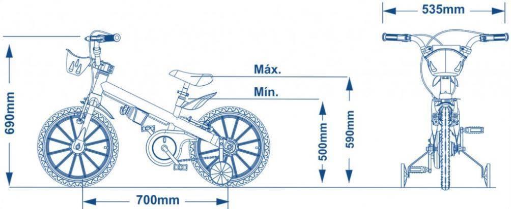 Bicicleta Nathor Extreme Aro 16  - Bike Portella