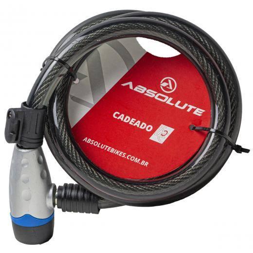 CADEADOABSOLUTE1,2MX15MM ESPIRAL COM CHAVE - Cicles Jahn