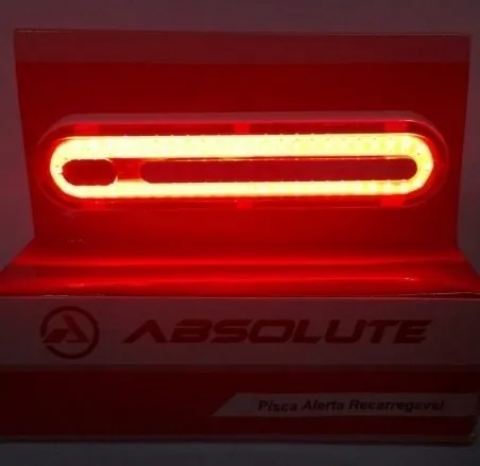 PISCA LED TRASEIRO 8 FUNÇÕES RECARREGÁVEL USB - Cicles Jahn