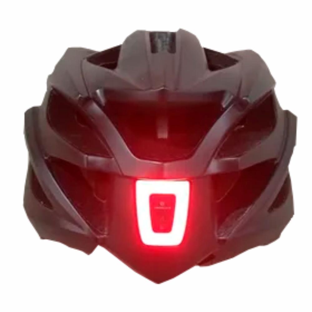 CAPACETE CICLISMO ABSOLUTE WILD FLASH C/ LED USB - PRETO FOSCO - Cicles Jahn