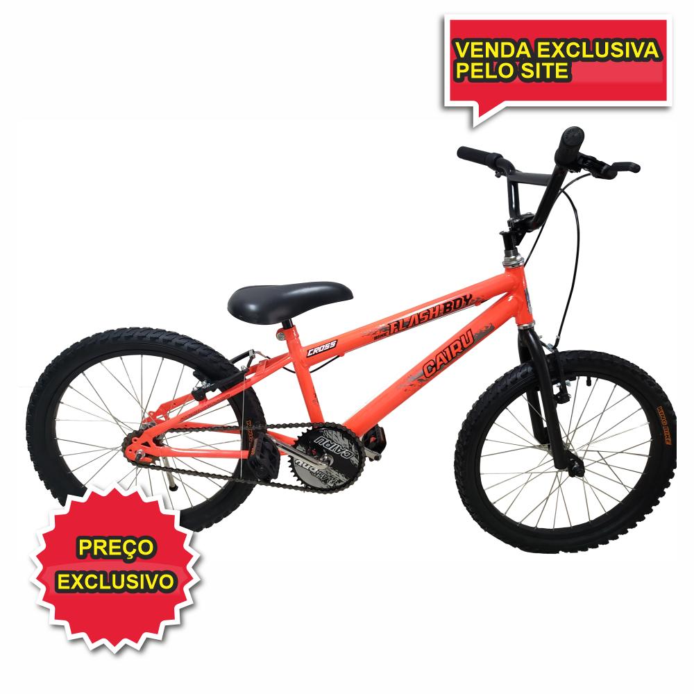 BICICLETA ARO 20 CROSS ULTRA BIKES LARANJA NEON - Cicles Jahn