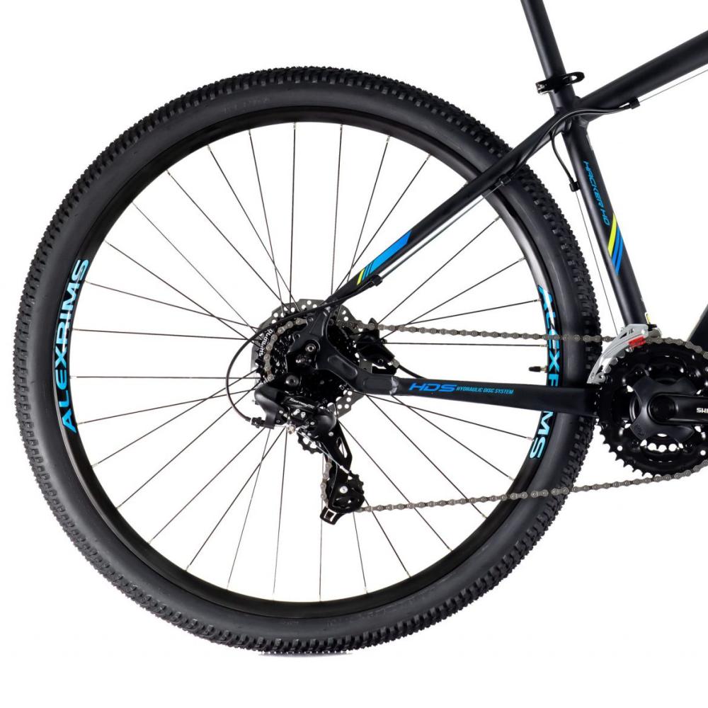 BICICLETA OGGI ARO 29 HACKER HDS 2021 PTO/AZUL - TAM 19 - Cicles Jahn