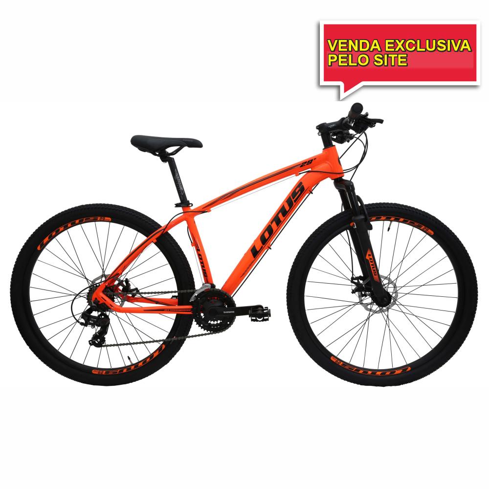BICICLETA ARO 29 LOTUS CXR - LARANJA/PRETO - TAM 17,5 - Cicles Jahn