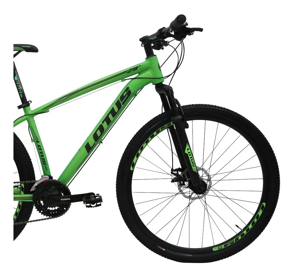BICICLETA ARO 29 LOTUS CXR - VERDE/ PRETO - TAM 17,5 - Cicles Jahn