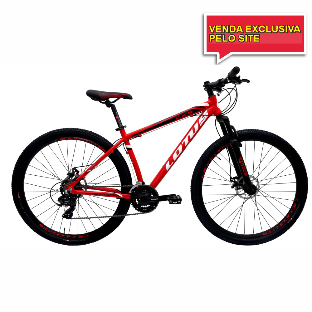 BICICLETA ARO 29 LOTUS CXR - VERMELHO/BRANCO - TAM 17,5 - Cicles Jahn