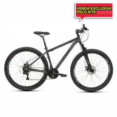 BICICLETA TSW RAVA PRESSURE 21V CINZA/PTO - TAM 17