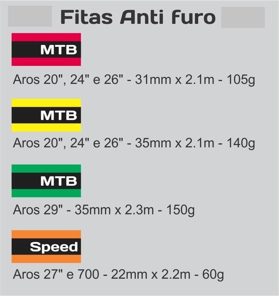 FITA ANTI FURO MTB ARO 26, 27,5, e 29 (PAR) - Cicles Jahn