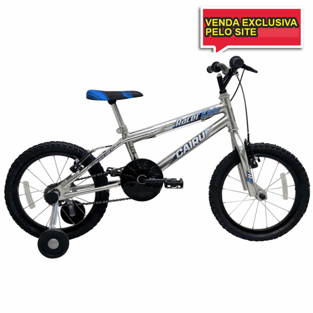 BICICLETA INFANTIL ARO 16 RACER KIDS CROMADO - Cicles Jahn