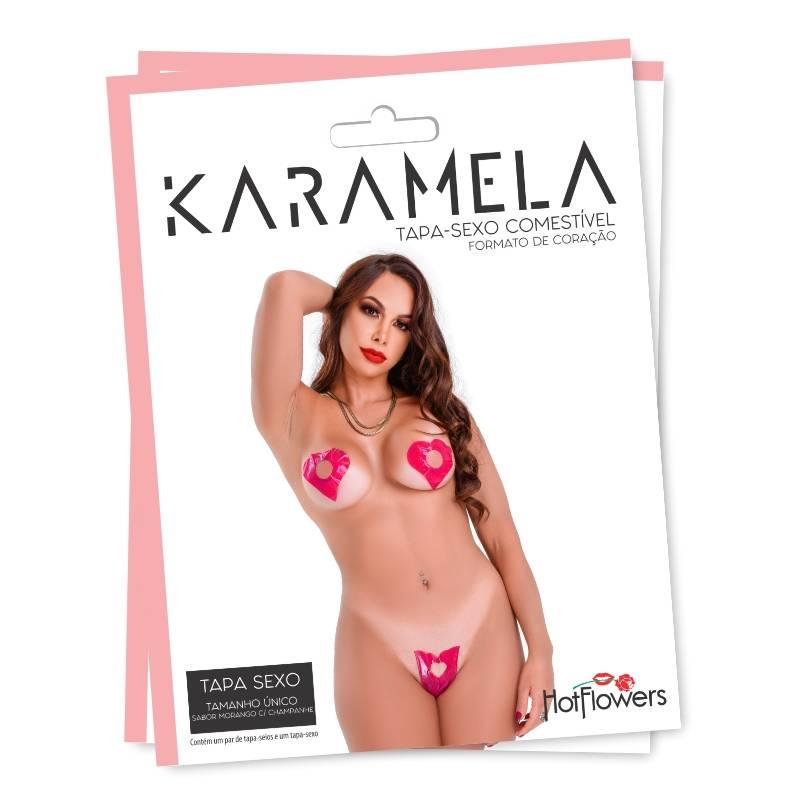 Karamela- Tapa Sexo Comestível Morango com Champanhe