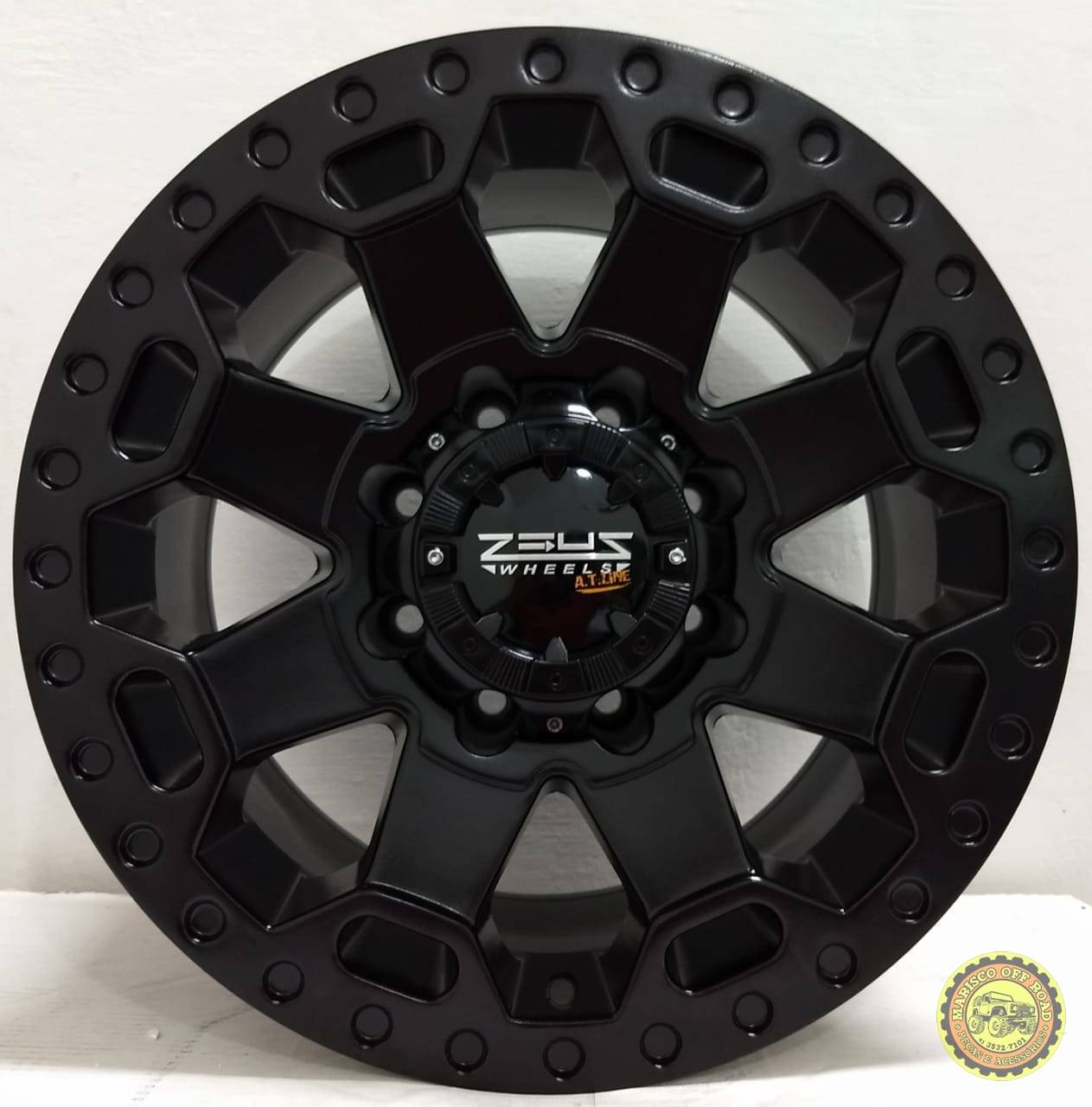 Roda 17x9 ZEUS, furação 8x170, off set 0 - F250/F350/MARRUÁ - Marisco Off Road