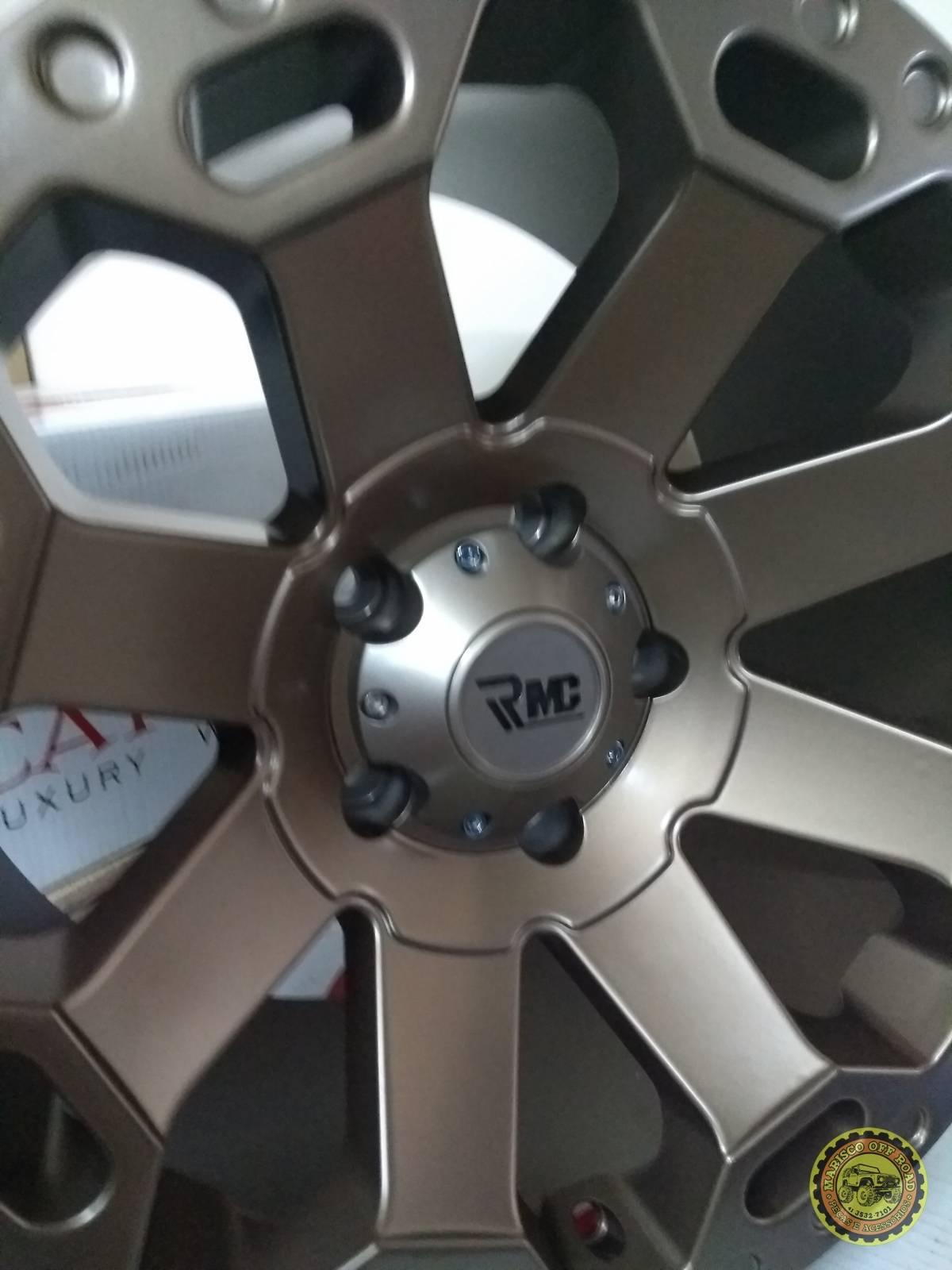 Roda 17x9 RMC GOLD, furação 5x127, off set 0 WRANGLER JK - RUBICON - SAHARA - Marisco Off Road