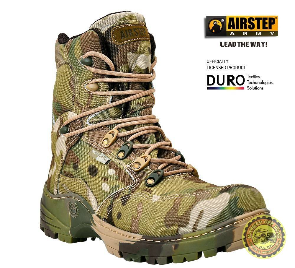 Bota Airstep Tática/Off Road Multicam Camuflada - Marisco Off Road