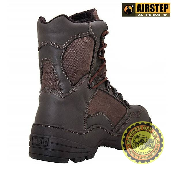 Bota Airstep Tática/Off Road Combat West Café - Marisco Off Road
