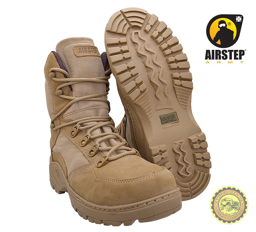 Bota Airstep Tática/Off Road TAN